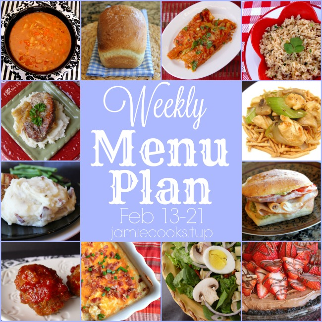 Weekly Menu Plan: Feb 13-21