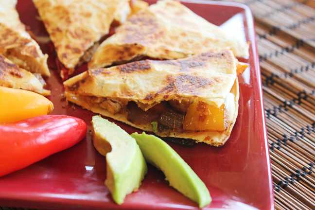 Chicken and Pepper Quesadillas from