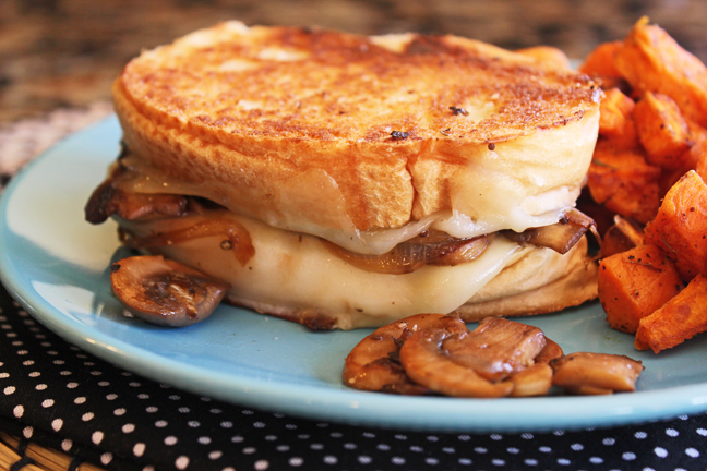 Mushroom Lovers Grilled Cheese from Jamie Cooks It Up!