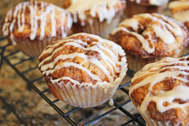 cinnamon roll muffins from