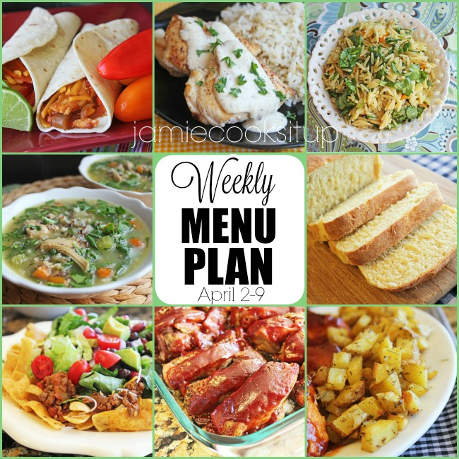 Weekly Menu Plan: April 2-9