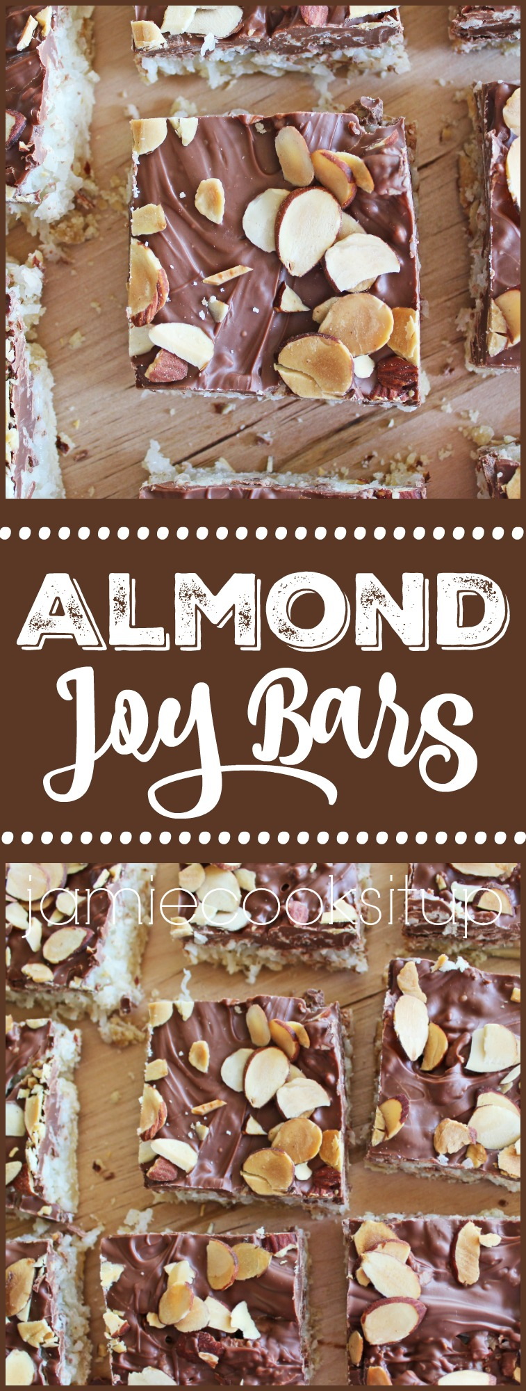 Almond Joy Bars from Jamie Cooks It Up