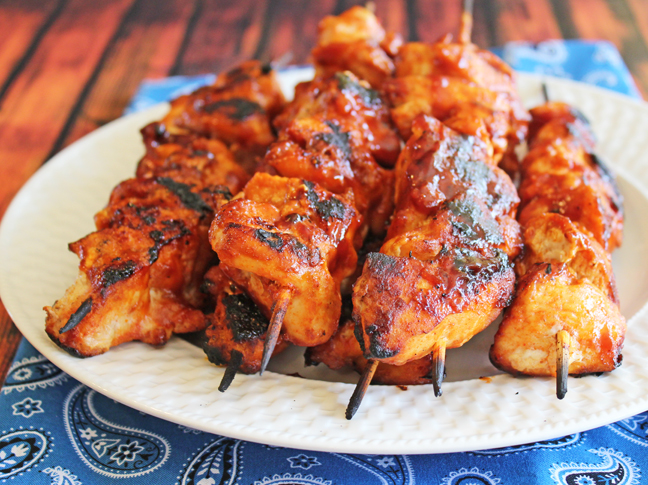 BBQ Chicken Kabobs from Jamie Cooks It Up!