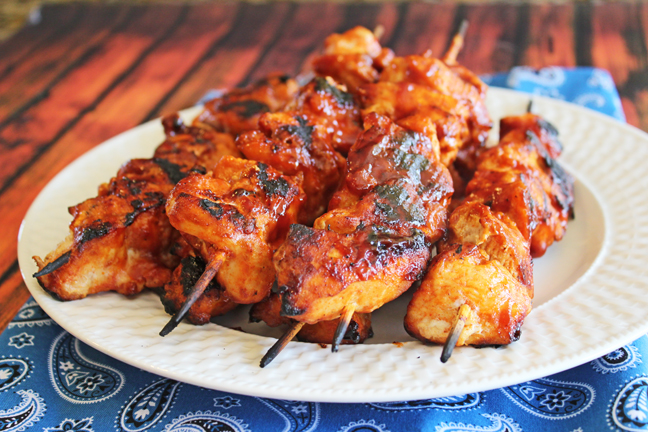 Fabulous Barbeque Chicken Kabobs