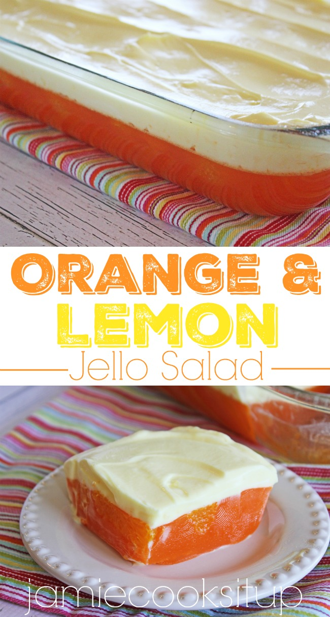 Orange jello salad cream cheese
