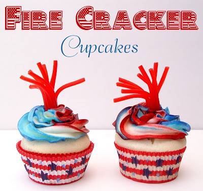fire cracker cupcakes