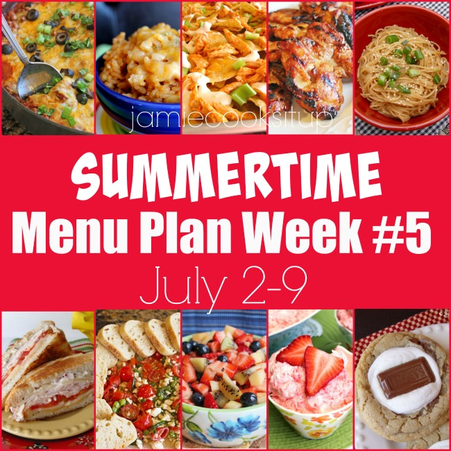 summertime menu plan week 5