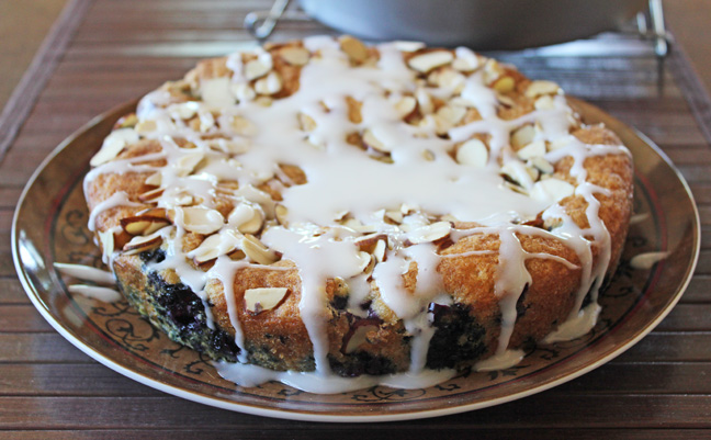 Blueberry Almond Coffee Cake Single