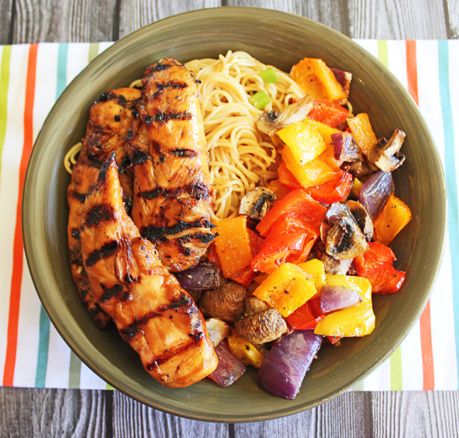 Grilled Sesame Chicken and Noodle Bowls