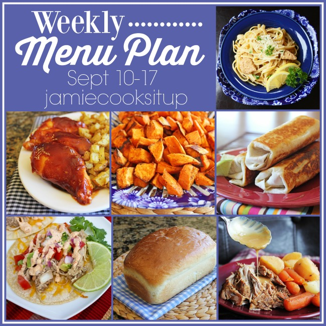 Weekly Menu Plan: Sept 10-17