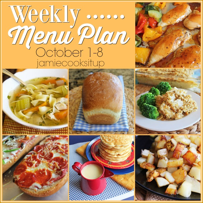 Weekly Menu Plan: October 1-8 + Printable List