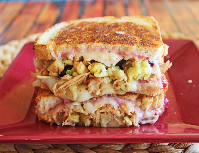 Grilled Thanksgiving Turkey Sandwich