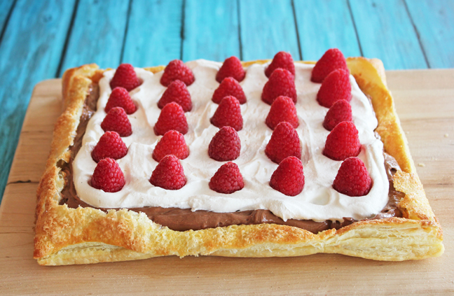 Chocolate Raspberry Puff Pastry