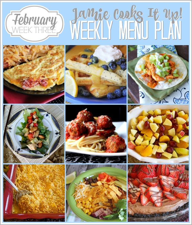Menu Plan February Week #3