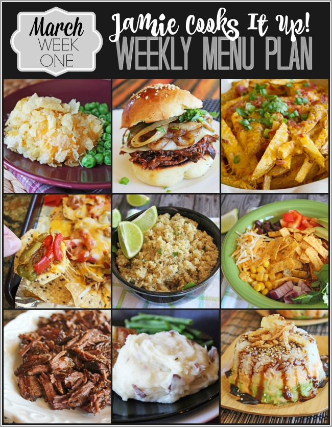Menu Plan March Week #1
