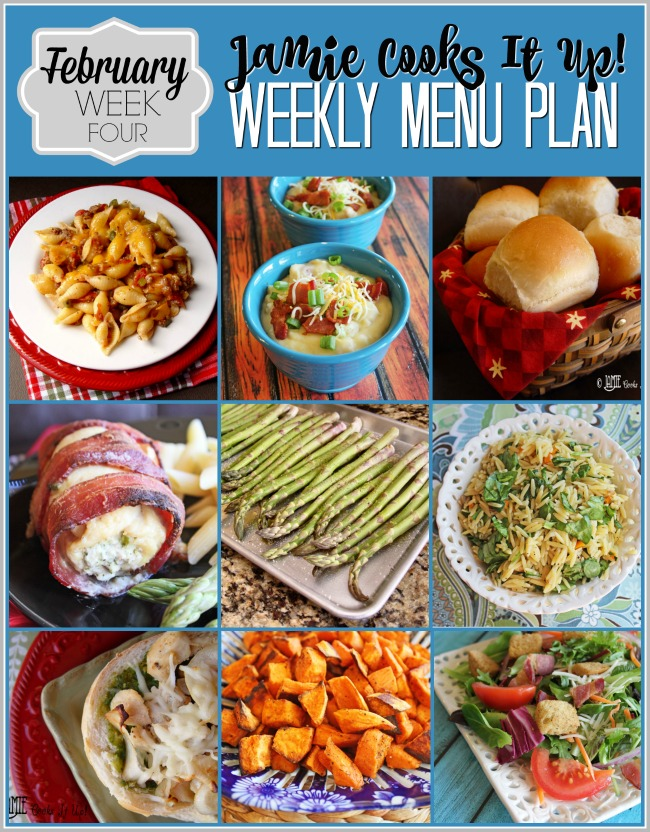 Menu Plan February Week #4