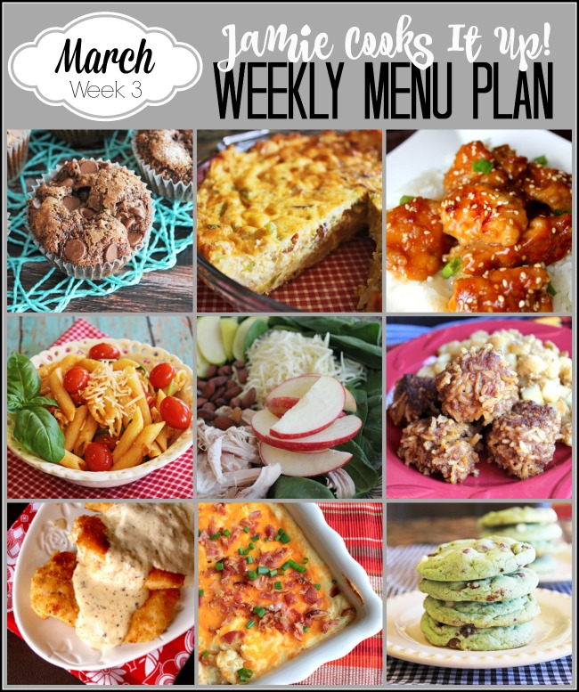 Menu Plan March Week #3