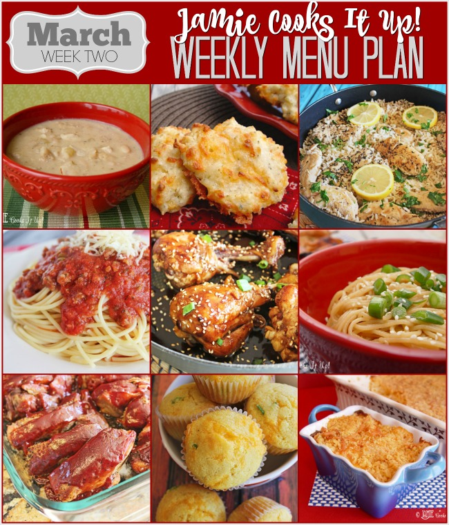 Menu Plan March Week #2