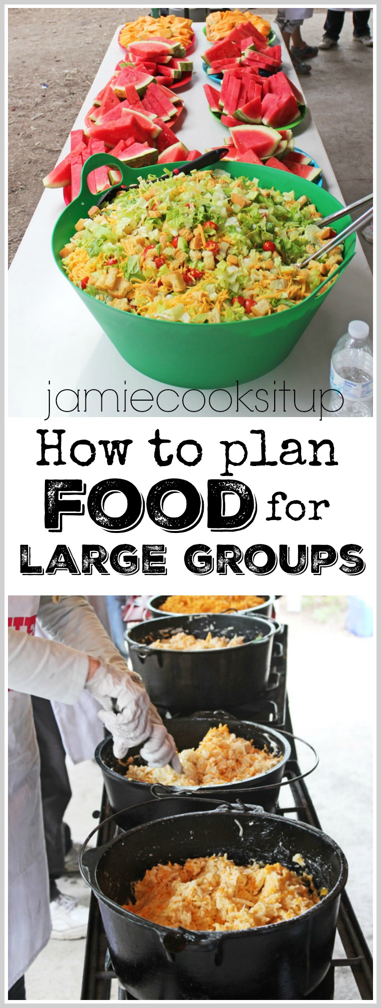 How To Plan Food For Girls Camp Youth Conference Family Reunions Or Other Large Groups