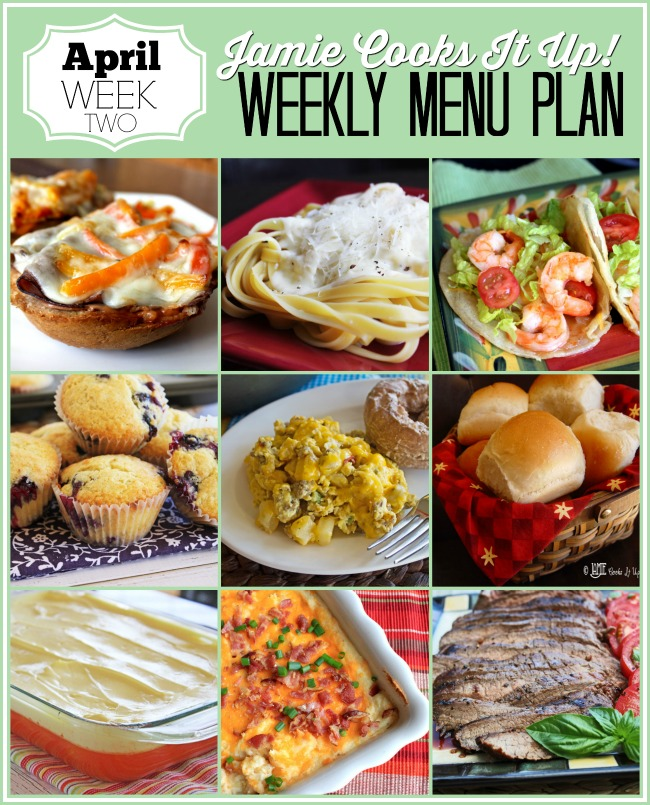 Menu Plan April Week #2