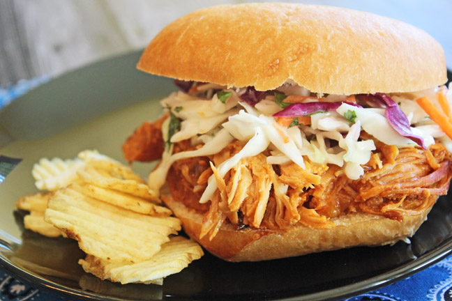 Crock Pot Hawaiian Chicken Sandwiches