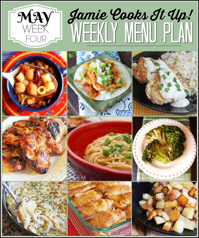 Menu Plan: May Week #4