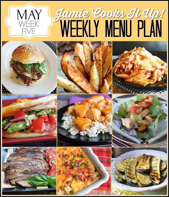 Menu Plan: May Week #5