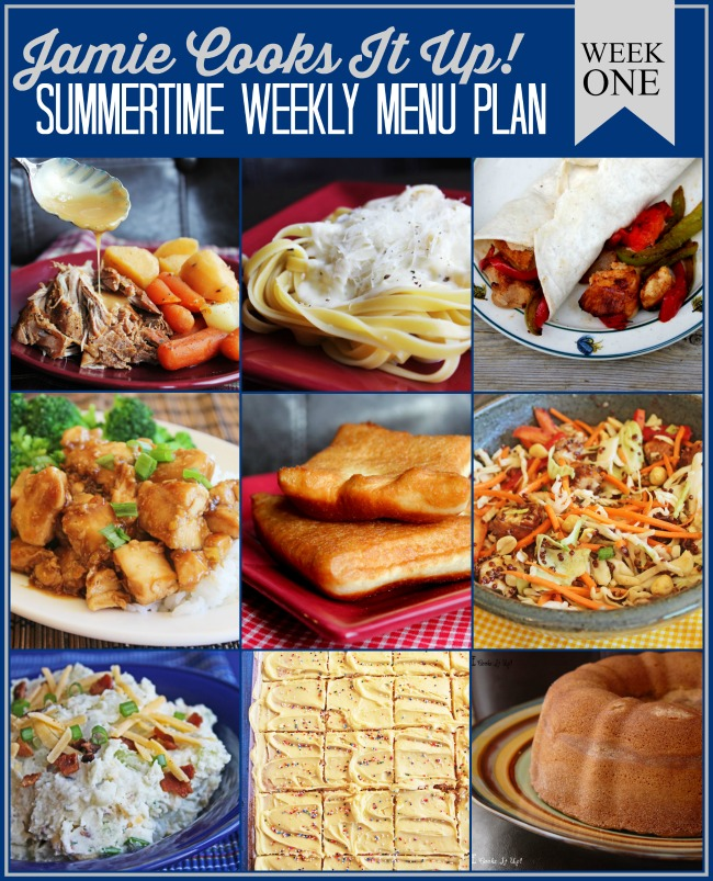 Summertime Menu Plan: Week #1