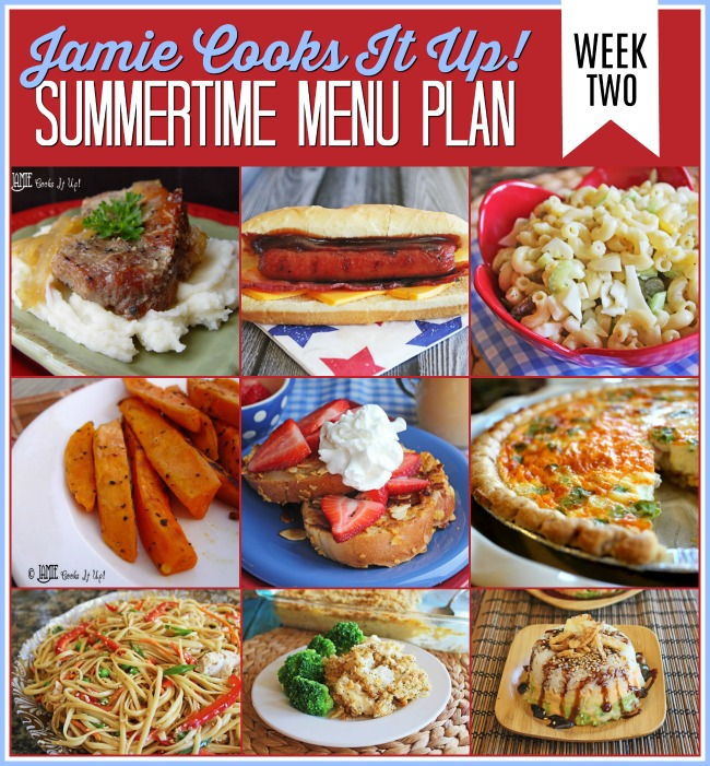 Summertime Menu Plan: Week #2
