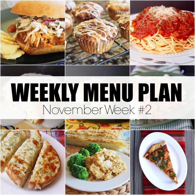 Menu Plan, November Week #2