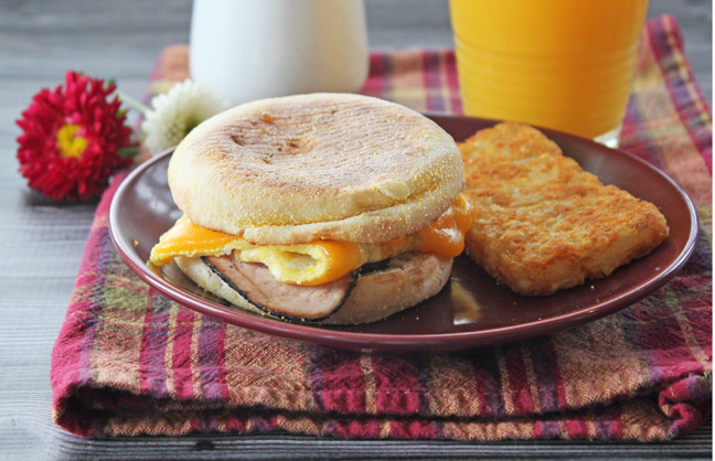 Ten Minute Breakfast Sandwiches
