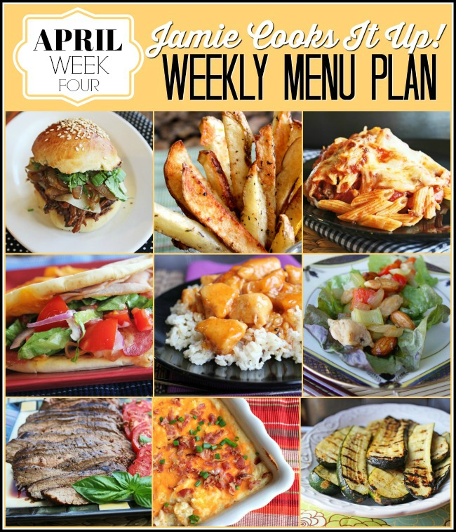 Menu Plan, April Week #4