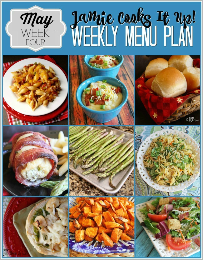 Menu Plan, May Week #4