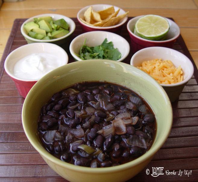 Loaded Black Bean Soup