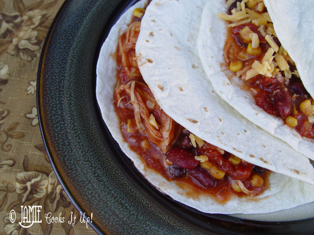 Southwest Black Bean Chicken in the Crock Pot