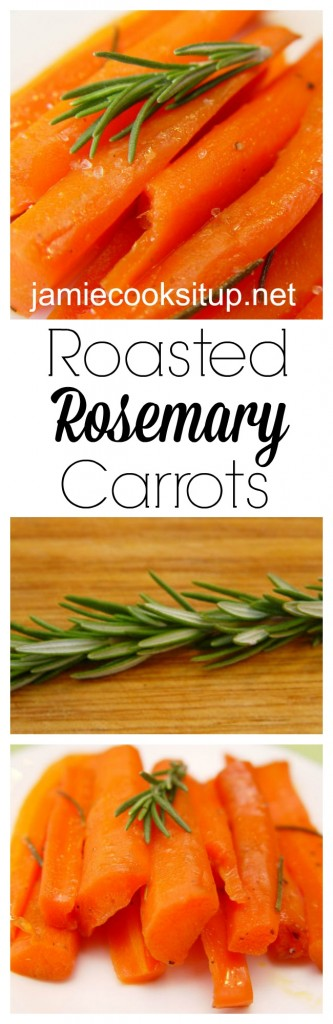 Raosted Rosemary Carrots from Jamie Cooks It Up!
