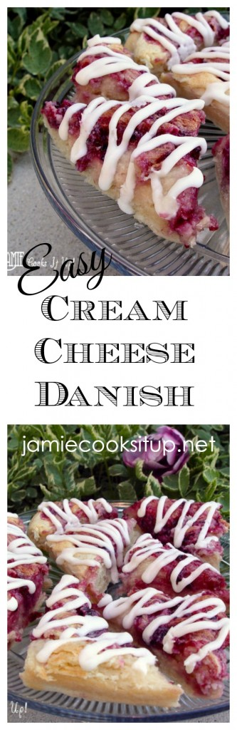 Easy Cream Cheese Danish from Jamie Cooks It Up!