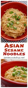 Asian Sesame Noodles from Jamie Cooks It Up!