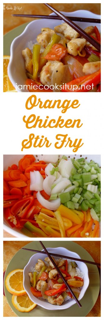 Orange Chicken Stir Fry from Jamie Cooks It Up!
