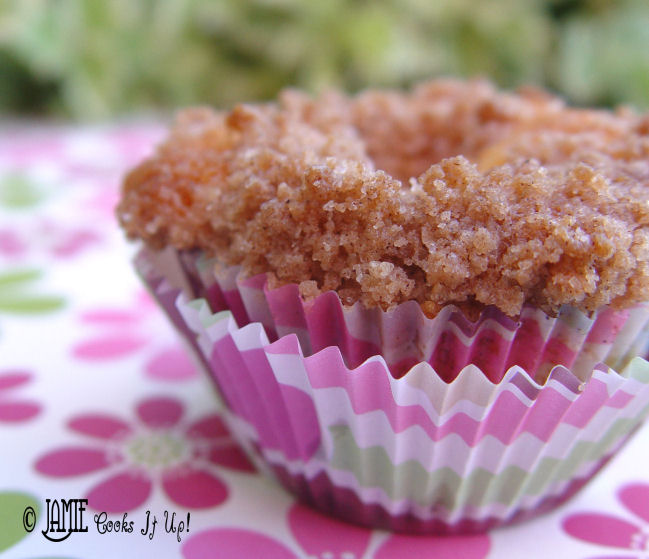 Blueberry Muffins with Cinnamon Crumb Topping.