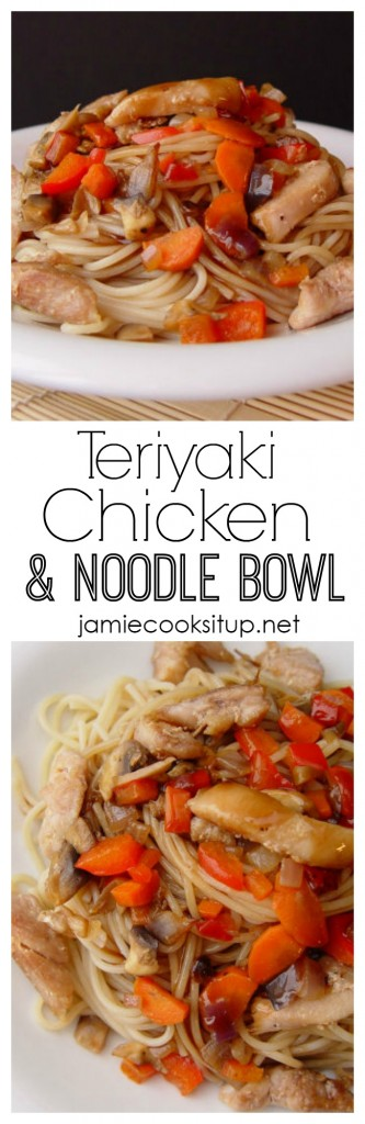 Teriyaki Chicken and Noodle Bowl   l   Jamie Cooks It Up!
