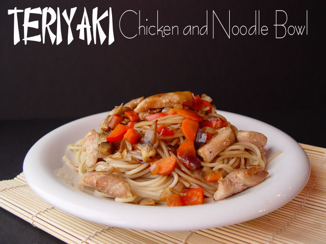 Teryaki Chicken and a Noodle Ball