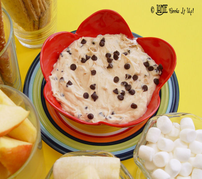Peanut Butter and Chocolate Cream Cheese Dip