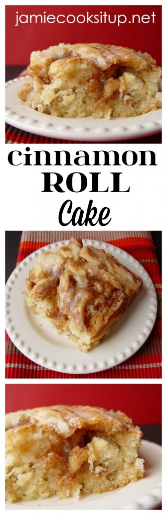 Cinnamon Roll Cake from Jamie Cooks It Up!