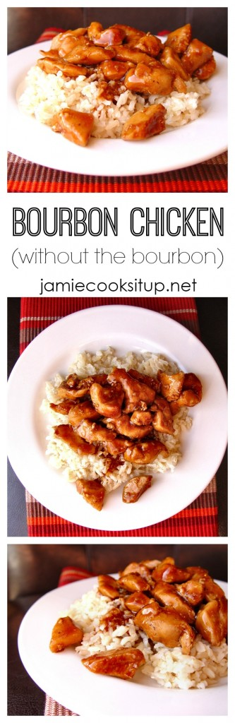 Bourbon Chicken from Jamie Cooks It Up!