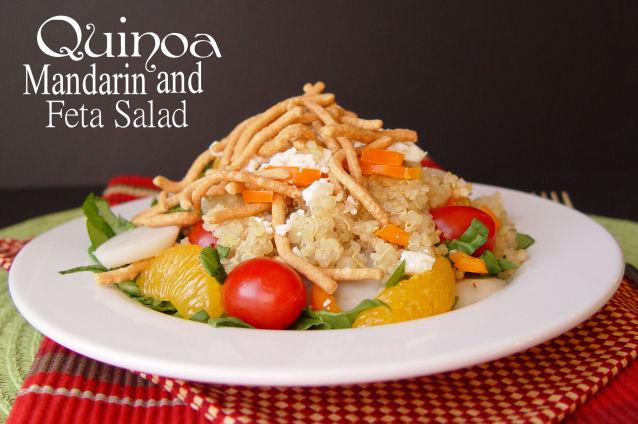 Quinoa Mandarin and Feta Salad