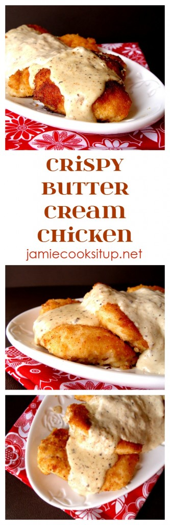 Crispy Butter Cream Chicken from Jamie Cooks It Up!