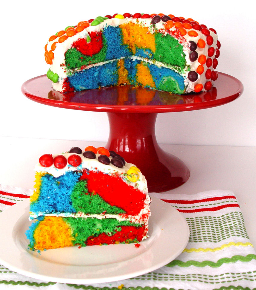Bright and Cheerful Rainbow Cake