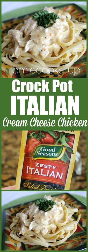 Crock Pot Italian Chicken from Jamie Cooks It Up!