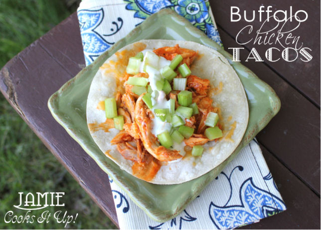 Easy Buffalo Chicken Tacos